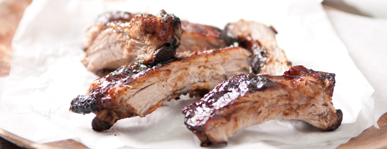 SWEET AND SOUR RIBS WITH TOP BALSAMIC CREAM WITH HONEY AND LEMON GLAZE